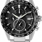 นาฬิกาผู้ชาย Citizen Eco-Drive รุ่น AT8154-82E, Radio Controlled AT Chronograph Sapphire Titanium Men's Watch