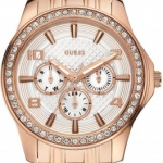 นาฬิกา Guess Model U0147L3, Crystal Embellished Rose Gold Elegant Watch