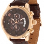 นาฬิกาผู้ชาย Guess Model U14504G1, Chronograph Leather Multi Dial Calendar Quartz Watch