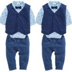 ID446-เสื้อ+กางเกง 4 ชุด /แพค ไซส์ 70-100