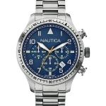 นาฬิกาผู้ชาย Nautica รุ่น A18713G, Chronograph Blue Dial Stainless Steel