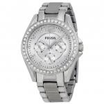นาฬิกาผู้หญิง Fossil รุ่น ES3202, Riley Multifunction Crystal