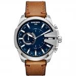 นาฬิกาผู้ชาย Diesel รุ่น DZT1009, Diesel On Mega Chief Hybrid Smartwatch Brown Leather Strap Men's Watch