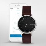 นาฬิกาผู้ชาย Skagen รุ่น SKT1111, Signatur Connected Hybrid Smartwatch Dark Brown Leather Men's Watch