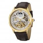 นาฬิกาผู้ชาย Stuhrling Original รุ่น 571.3335K2, Tempest II Automatic Skeleton Dual Time