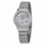 นาฬิกาผู้หญิง Citizen Eco-Drive รุ่น EW2280-58D, Diamond Mother Of Pearl Stainless Steel