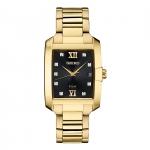 นาฬิกาผู้หญิง Seiko รุ่น SNE462, Solar Diamond Dial Gold Tone Stainless Steel