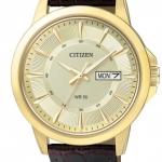 นาฬิกาผู้ชาย Citizen รุ่น BF2013-05P, Gold Tone Dial Brown Leather