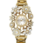 นาฬิกา Guess Model U0138L2, Gold Tone Crystal Bouquet Quartz