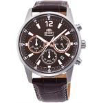 นาฬิกาผู้ชาย Orient รุ่น RA-AC0001S10B, Chronograph Quartz Leather Men's Watch