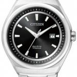นาฬิกาข้อมือผู้ชาย Citizen Eco-Drive รุ่น AW1251-51E, Sapphire Super Titanium Japan 100m