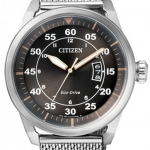 นาฬิกาผู้ชาย Citizen รุ่น AW1360-55F, Eco-Drive Aviator Mesh Band Men's Watch
