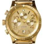 นาฬิกาผู้ชาย Nixon รุ่น A486502, 48-20 Chronograph Quartz All Gold 200M