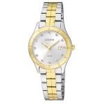นาฬิกาผู้หญิง Citizen รุ่น EU6044-51A, Dress QUARTZ Analog Silver Watch