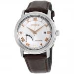 นาฬิกาผู้ชาย Citizen Eco-Drive รุ่น AW7020-00A, Silver Dial Leather Strap