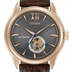 นาฬิกาผู้ชาย Citizen รุ่น NB4003-01H, The Signature Collection Grand Classic Automatic Rose Gold Brown Leather Men's Watch