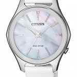 นาฬิกาผู้หญิง Citizen รุ่น EM0597-12D, Eco-Drive Mother of Pearl 50m Women's Watch