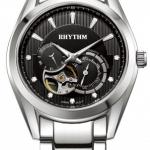 นาฬิกาผู้ชาย Rhythm รุ่น A1402S02, Automatic Sapphire Open Heart A1402S 02, A1402S-02