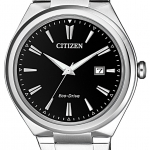 นาฬิกาผู้ชาย Citizen Eco-Drive รุ่น AW1370-51F, Stainless Steel Black Dial 50m Men's Watch