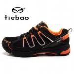 รองเท้าจักรยานเสือภูเขาแบบผ้าใบ TIEBAO รุ่น TB22-B1285 สีดำส้ม