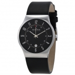 นาฬิกาผู้ชาย Skagen รุ่น 233XXLSLB, Grenen Classic Black Dial Leather Men's Watch