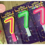 เทียนตัวเลข เทียนเค้กวันเกิด เลข7