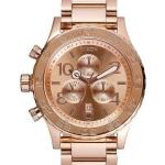 นาฬิกาผู้ชาย Nixon รุ่น A037-897-00, Quartz Chronograph Rose Gold-Plated 200M