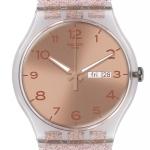 นาฬิกา ชาย-หญิง Swatch รุ่น SUOK703, Pink Glistar