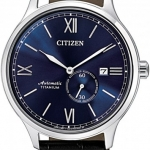 นาฬิกาผู้ชาย Citizen รุ่น NJ0090-21L, Mechanical Automatic Sapphire Titanium Leather Men's Watch