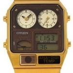 นาฬิกาข้อมือ ชาย & หญิง Citizen รุ่น JG2002-53W, Retro Ana-Digi Temperature Classic