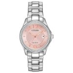 นาฬิกาผู้หญิง Citizen รุ่น FE1140-86X, Silhouette Eco-Drive Pink Dial Diamond Women's Watch