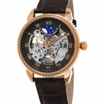 นาฬิกาผู้ชาย Stuhrling Original รุ่น 835.04, Special Reserve Automatic Skeleton Leather Men's Watch
