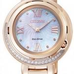 นาฬิกาข้อมือผู้หญิง Citizen Eco-Drive รุ่น EX1122-58D, Genuine Diamonds Sapphire Japan