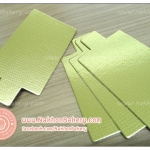 กระดาษรองมูส กระดาษรองเค้ก สี่เหลี่ยมผืนผ้า สีทอง