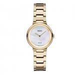 นาฬิกาผู้หญิง Seiko รุ่น SUP386, Solar MOP Dial Gold-Tone Stainless Steel