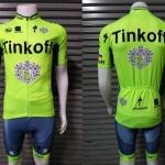 (พร้อมส่ง) ชุดจักรยานแขนสั้น Tinkoff-Saxo 2016 Green ราคาส่ง