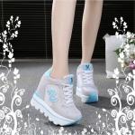 รองเท้าผ้าใบแฟชั่นพื้นหนาเสริมสูง 8-10 cm