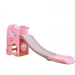 สไลเดอร์ 2 อิน 1 สำหรับเด็ก Mini Playground Set แมวคิตตี้ พร้อมห่วงบาส