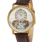 นาฬิกาผู้ชาย Stuhrling Original รุ่น 693.03, Legacy Skeleton Mother of Pearl Genuine Leather Strap Men's Watch