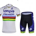 ชุดปั่นจักรยานแขนสั้นทีม UCI Lampre Merida เสื้อปั่นจักรยาน สีขาว 213