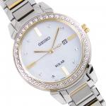 นาฬิกาผู้หญิง Seiko รุ่น SUT328P1, Solar Mother of Pearl Dial Diamond Accent