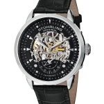 นาฬิกาผู้ชาย Stuhrling Original รุ่น 133.33151, Executive Automatic Skeleton Black Leather