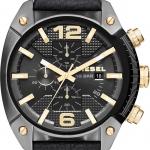 นาฬิกาผู้ชาย Diesel รุ่น DZ4375, Overflow Chronograph Black Dial Black Leather