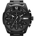 นาฬิกาผู้ชาย Diesel รุ่น DZ4283, Mega Chief Quartz Chronograph Grey Dial Black IP