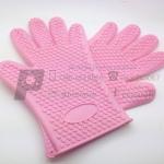 ถุงมือซิลิโคน สีชมพู จำนวน 1 ชิ้น