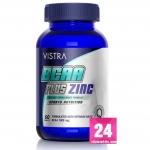 Vistra BCAA Plus Zinc Sport Nutrition บรรจุ 60 แคปซูล [ขวดน้ำเงิน] ทำให้กล้ามเนื้อมีความคงทน และแข็งแรงมากขึ้น ฟื้นฟูและลดการอ่อนล้าของกล้ามเนื้อ