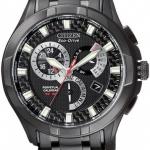 นาฬิกาข้อมือผู้ชาย Citizen Eco-Drive รุ่น BL8097-52E, Perpetual Calendar Black IP 100m