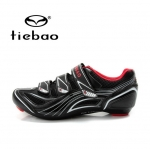 รองเท้าจักรยานเสือหมอบ TIEBAO รุ่น TB16-B1235 สีดำขาวแดง