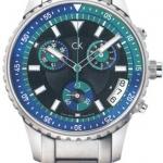นาฬิกาข้อมือผู้ชาย Calvin Klein รุ่น K3217378, Blue Chronograph Dress Quartz SWISS Watch