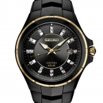 นาฬิกาผู้ชาย Seiko รุ่น SNE506, Coutura Diamond Solar Sapphire Black PVD Steel Men's Watch